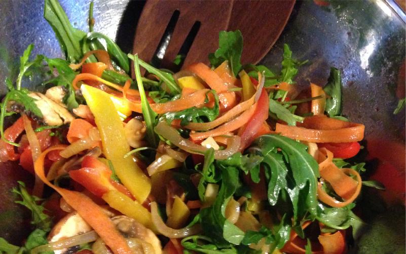 Salat Rezept Vegan Gemüse gedünstet