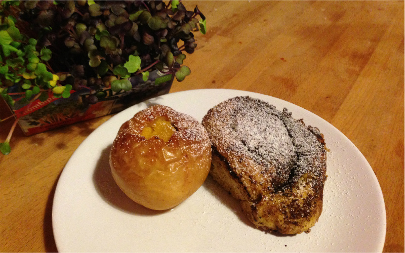 Bratapfel Kürbisschnecke Vegan