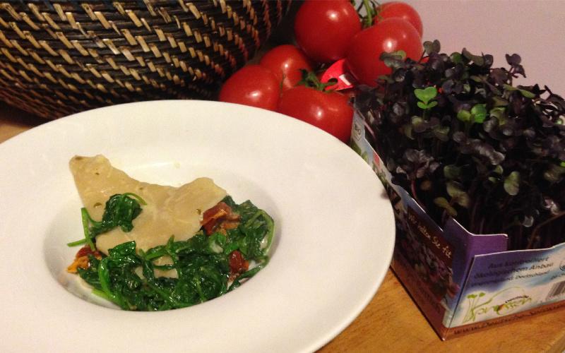 Spinat ricotta ravioli vegan rezept