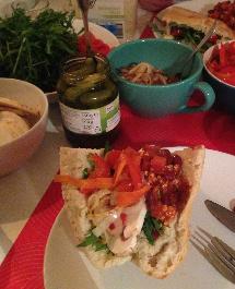 Vegan Fladenbrot Chili sin Carne Rezept