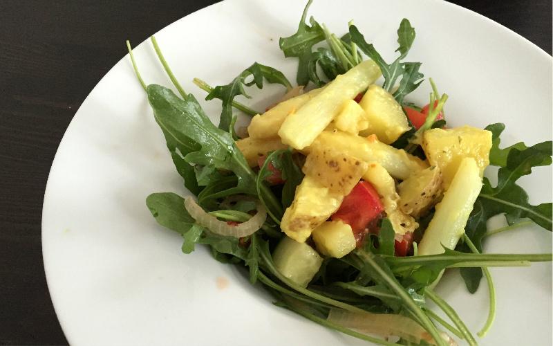 Salat Benedict vegane Spargel