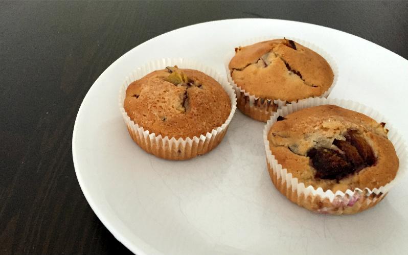 Bananen-Zwetschgen-Muffins