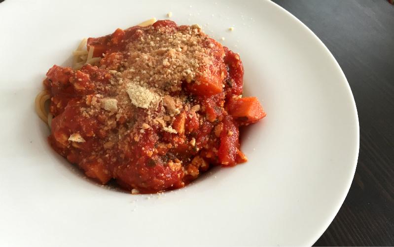 Spaghetti Tofu-Bolognese