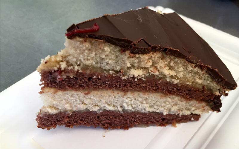 Vegane Schoko Vanille Biskuit Torte Mandarinenmaki
