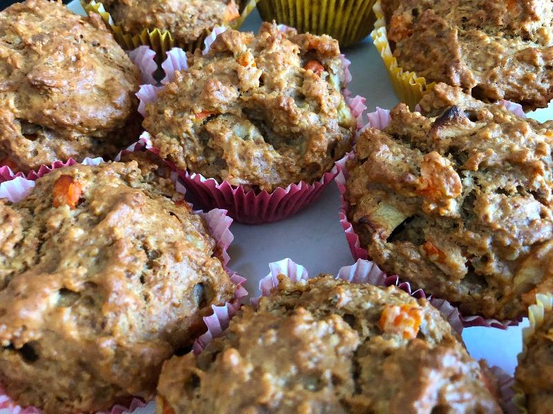 Apfel-Möhren-Muffins