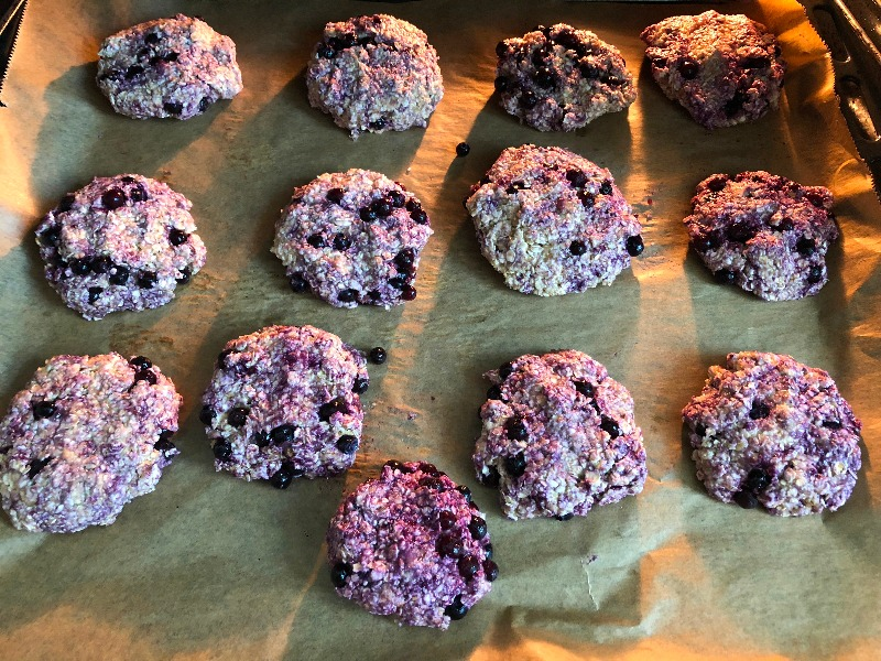 Einfache Blaubeerkekse im Ofen