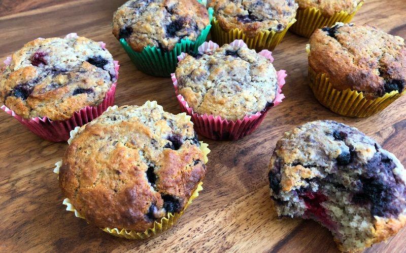 Himbeer-Heidelbeer-Muffins