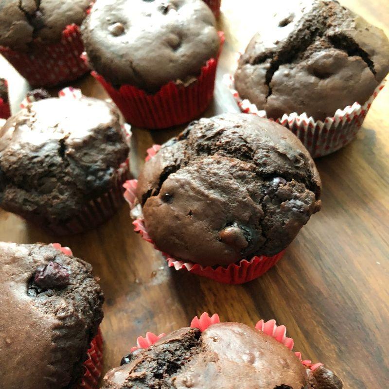 Heidelbeer-Schoko-Muffins